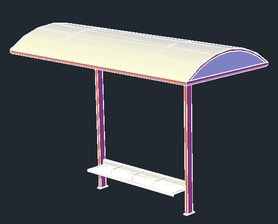 Bus Stop Stand 3d Model For Autocad Designs Cad
