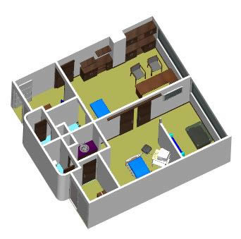 Doctor 39 s office of gynecology 3d dwg model for autocad - Planos de clinicas dentales ...