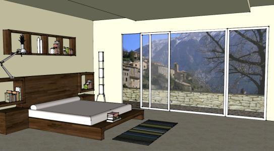 Bedroom Interior Design Interior Design 40D SKP Model For SketchUp Unique Designs For Bedroom Model