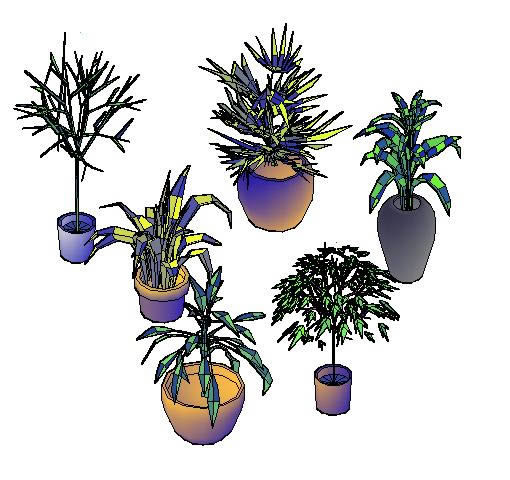 Trees and house plants 3d dwg model for autocad designs cad for Plante 3d dwg