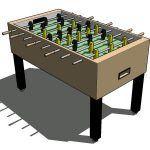 Block Foosball 3D SKP Block for SketchUp