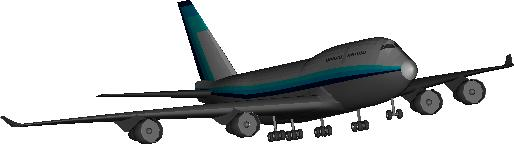 Boeing 747-400 DWG Block for AutoCAD