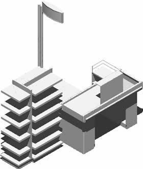 Supermarket Checkout Counter 3d Dwg Model For Autocad Designs Cad