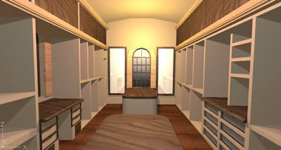 Dressing Room Closet 3d Dwg Model For Autocad Designs Cad