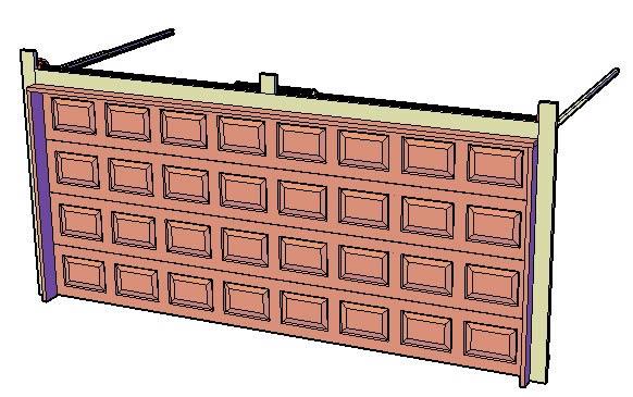 Garage Door Dwg Block For Autocad Designs Cad