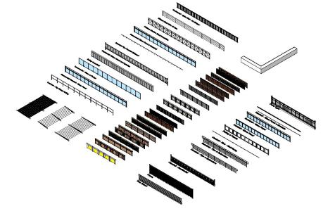 Handrails 3d Rvt Model For Revit Designs Cad