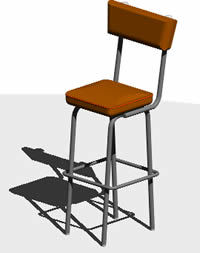 Octane Counter Stool 3d Dwg Model For Autocad Designs Cad