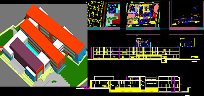 General Hospital 2d 3d Dwg Full Project For Autocad
