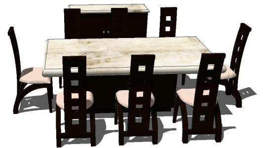 Hotel Dining Table 3D SKP Model for SketchUp • Designs CAD