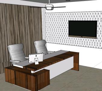 Interior Office – 3D SKP Model for SketchUp