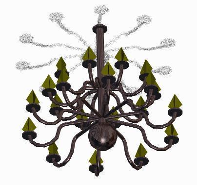 Lamp Chandelier 3D DWG Model for AutoCAD • Designs CAD