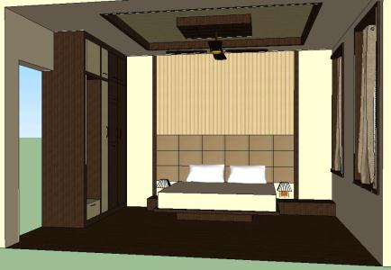 Master Bedroom 3d Skp Model For Sketchup Designs Cad