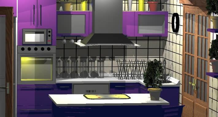 Modern Modular Kitchen 3d Dwg Model For Autocad Designs Cad