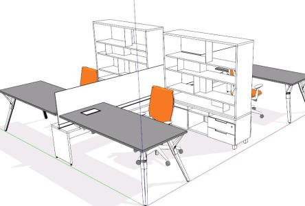 Office Furniture 48D SKP Model For SketchUp Designs CAD Awesome Sketchup Furniture Design