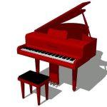 Piano 3D SKP Block for SketchUp