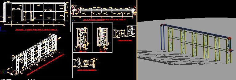 Pipe Rack Details Dwg Detail For Autocad Designs Cad