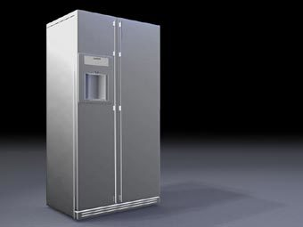 Side By Side Refrigerator 3d 3ds Model For 3d Studio Max