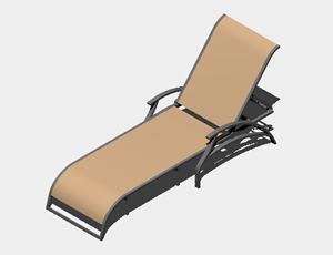 Chaise Lounge Pool Chair 3d Dwg Model For Autocad