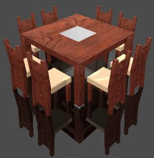 8 Seater Dining Table 3d Dwg Model For Autocad Designs Cad