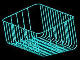 Steel Wire Basket 3D DWG Model for AutoCAD