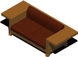 Wooden Sofa 3d Dwg Model For Autocad Designs Cad