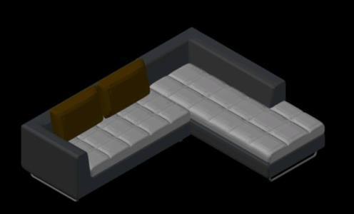 Sofa Bed 3d Dwg Model For Autocad Designs Cad