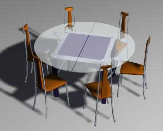 seater round glass dining table this cad file shows round dining