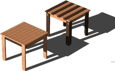 Low Square Table D DWG Model For AutoCAD Designs CAD - Picnic table dwg