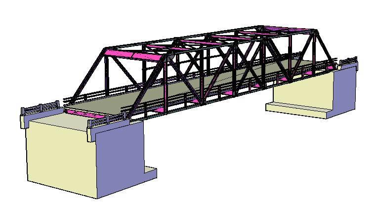 truss bridge dwg detail for autocad designs cad
