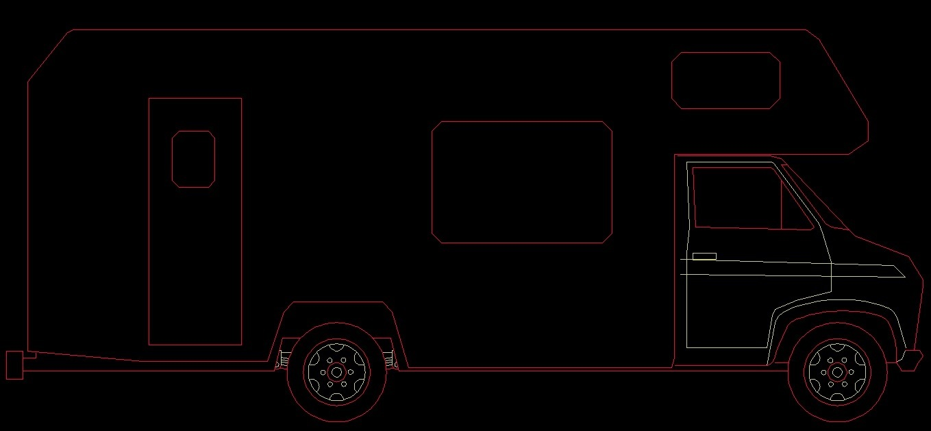 Ambulance Vehicle Side View 2d Dwg Block For Autocad