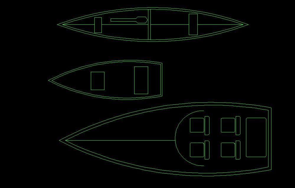 Canoe And Small Boat Top View 2D DWG Block For AutoCAD – Designs CAD