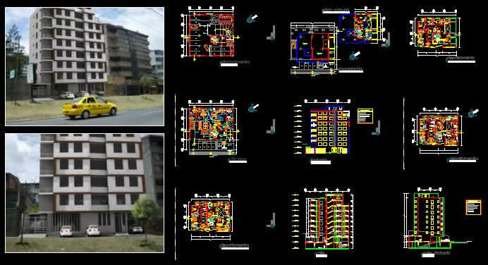 9 Levels Apartment Building Dwg Full Project For Autocad
