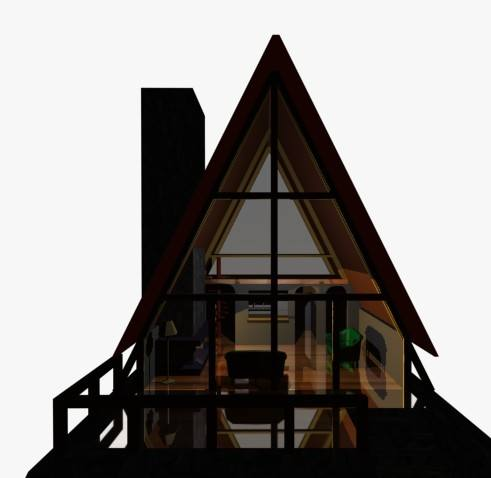 A Frame Cabin 3d 3ds Model For 3d Studio Max Designs Cad