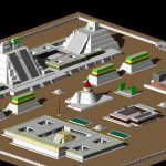 Aztec City 3D DWG Model for AutoCAD