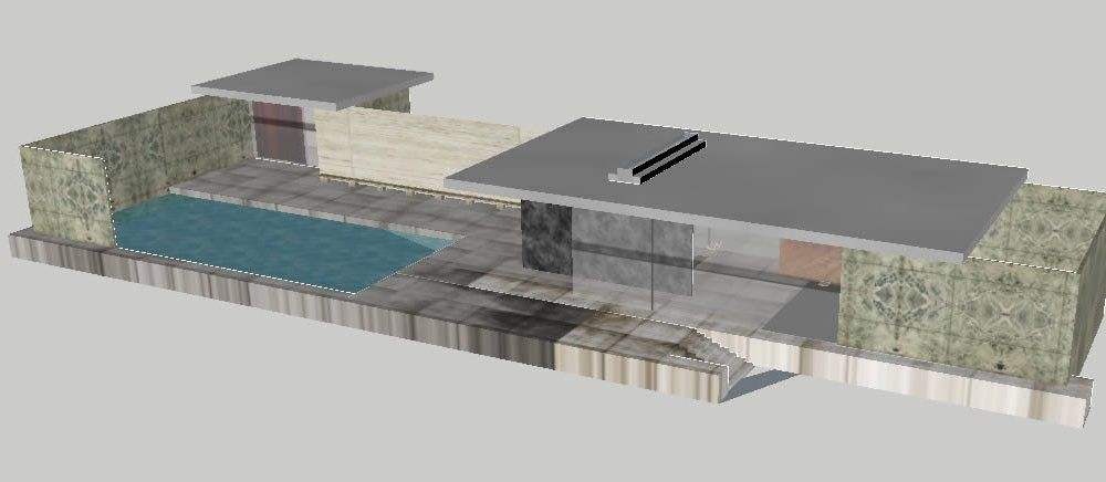 Barcelona Pavilion By Mies Van Der Rohe Model 3d 3ds Plan For 3d