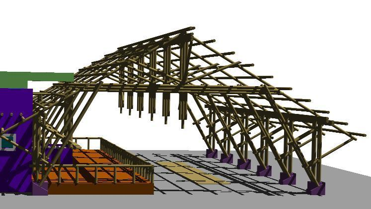 Barn For Exhibition Horses In Bamboo Dwg Block For