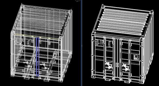 Container 8ftx8ftx8ft 3d Dwg Model For Autocad Designs Cad