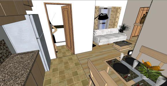 Contemporary 1 Bedroom Condo 3d Skp Model For Sketchup