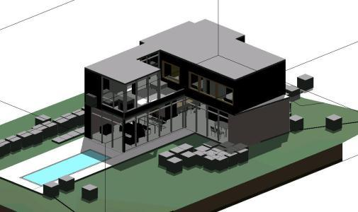 Detached House 3D RVT Model for Revit