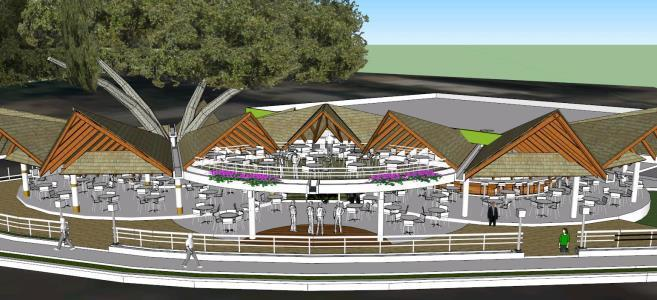 Ecological Restaurant 3D SKP Full Project for SketchUp • Designs CAD