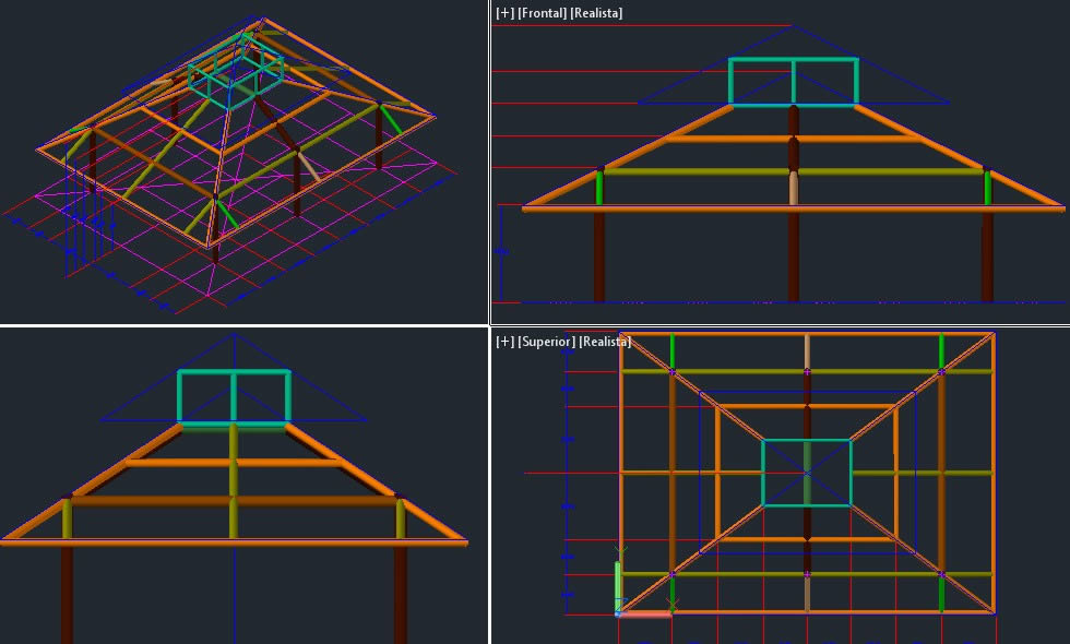Roof Structure 3d Dwg Design Elevation For Autocad