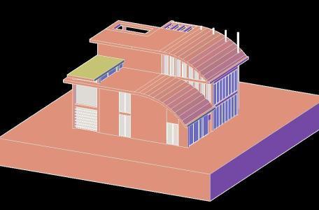 Home Design 3D DWG Model For AutoCAD. ADVERTISEMENT