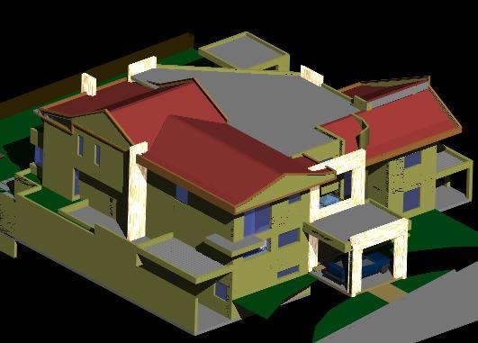 House 3d dwg model for autocad designs cad - Autocad home design software free download ...