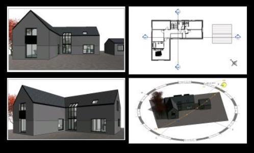 house plan 3d rvt full project for revit designs cad. Black Bedroom Furniture Sets. Home Design Ideas