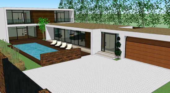 Minimalist Home 3d Skp Model For Sketchup Designs Cad