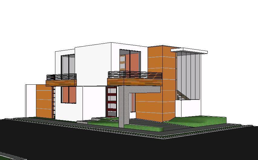 Minimalist Homes 3d Skp Model For Sketchup Designs Cad