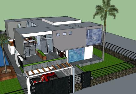 Minimalist House 3d Skp Model For Sketchup Designs Cad