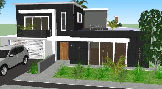 Minimalist Modern House 3d Skp Elevation For Sketchup Designs Cad