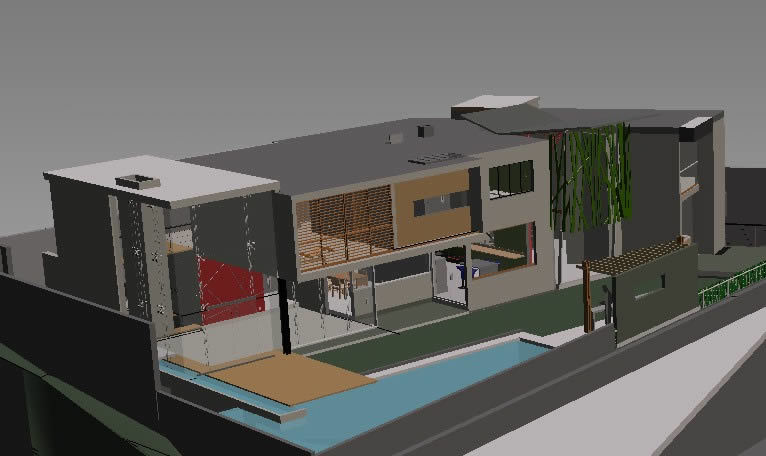 Modern House 3D DWG Model for AutoCAD Designs CAD
