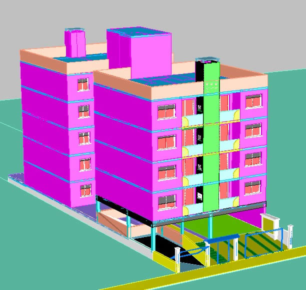 how to draw 3d autocad building 2016